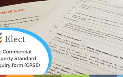 The Commercial Property Standard Enquiry form (CPSE)