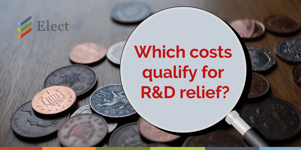 Which costs qualify for R&D relief?